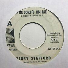 northern soul 45 TERRY STAFFORD The Joke's On Me  SIDEWALK listen