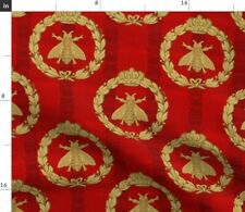 Vintage Nature Insect Royal Napoleon Retro Red Fabric Printed by Spoonflower BTY