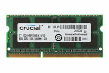 Crucial 8gb 8 GB SODIMM  PC3-12800 (DDR3-1600) Memory (CT102464BF160B)