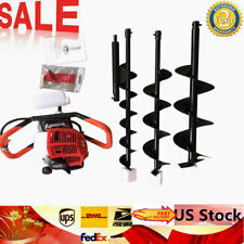 52cc 23hp 2 Stroke Post Hole Digger Earth Auger With 3pcs 468 Drill Bits