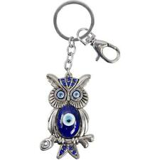 Blue Owl On Twig and Evil Eye Key Chain!