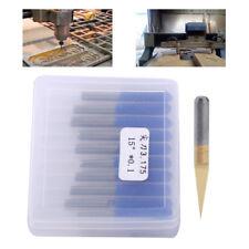 10x Titanium Coated Carbide PCB Engraving CNC Bit Router Tool 15 Degrees 0.1mm