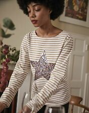 Joules Womens Harbour Luxe Long Sleeve Jersey Top - Star