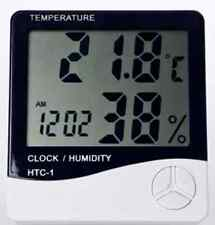 HTC-1 Digital Thermometer & Humidity Meter Clock