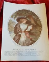 Delia in the Country - G. Morland - Vintage Book Print