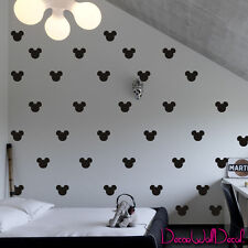 2x1.6 Set of 150 Mickey Mouse Head Ears Wall Decal Baby Nursery Surface M1603