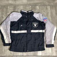 RARE Vintage Oakland Raiders APEX ONE Full Zip NFL Jacket Mens Medium