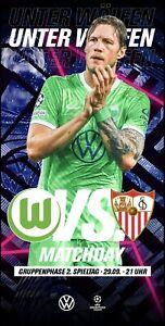 Official programme Wolfsburg Germany v Sevilla Spain 2021 2022 Champions League