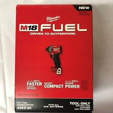 Milwaukee M18 Fuel Lithium 1/4 Impact  2853-20 BRAND NEW Bare replaces 2753-20