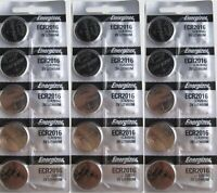 15 PC ENERGIZER CR2016 WATCH BATTERIES 3V LITHIUM CR 2016 DL2016 BR2016