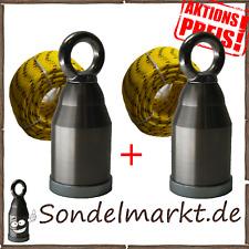 2x TALENT Bergemagnet Doppel Komplett Set Suchmagnet 68Kg  Magnetfischen WK2