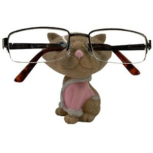 "Cat Kitten Eyeglass Glasses Sunglass Holder Stand Display 4"" Figurine Decor  NIB"