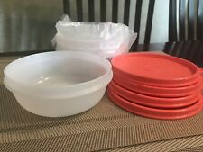 NEW Tupperware SET 4 Modular 1 1/4 Cup Bowls - Cereal, Soup, Oatmeal Kids