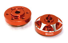 C26665RED Alloy Drive Pin-to-6 Bolt Wheel Hub 9mm Thick for 1/10 Axial Crawler
