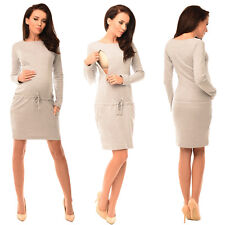 Maternity Pregnancy and Nursing Front Tie Dress Top with Pockets Purpless 6204