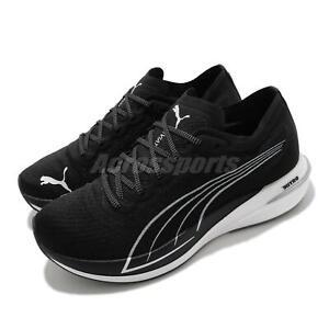 Puma Deviate Nitro Carbon Black White Men Road Running Shoes Sneakeres 194449-02