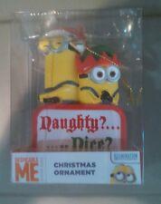 Despicable Me Minion Naughty or Nice Chrismas Ornament