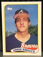 1989 Topps John Smoltz baseball card Atlanta Braves Mint #382 MLB Rookie RC HOF