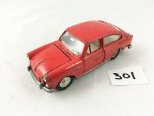 RARE DINKY TOYS #163 VW VOLKSWAGEN 1600 TL FASTBACK DIECAST MODEL CAR 1966 RED