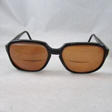 SWANK Eyeglasses Black Frames Spring Hinge Made in W Germany Bi Focals Tinted