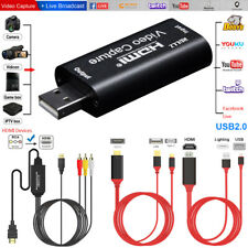 HDMI to USB 2.0 Video Capture Card 1080P Record AV Facebook Chat Live Streaming