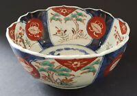 Japanese Imari vintage Victorian Meiji Period oriental antique blue & red bowl