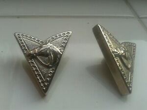 Vintage Metal Collar Tips Horse Head Design (Rock And Roll Elvis Cowboy Related)