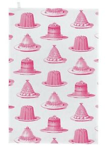 """Thornback & Peel """"Jelly & Cake"""", Pure cotton tea towel. Hand printed in the UK."""