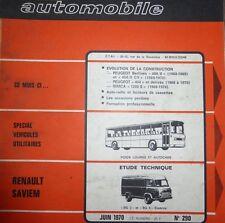 Revue technique RENAULT SAVIEM SG 2 SG 4 ESSENCE FOURGON N° 290 1970