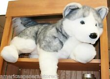 "BARKER plush 30"" LARGE HUSKY stuffed animal DOG by Douglas large"