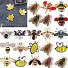 Mode Damen Biene Brosche Emaille Kristall Strass Anstecknadel Broschen Geschenk