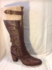 Moda In Pelle Brown Knee High Leather Boots Size 39
