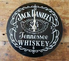 Jack Daniel's Tennessee Glass Clock 17 cm Diameter. Wall Or Desk.