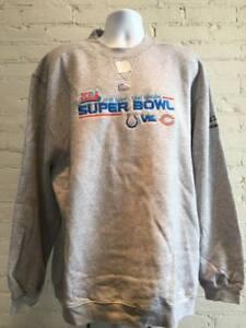 Superbowl 41 MEN'S XXL Colts vs Bears Dueling Logo Sweatshirt - CLOSEOUT