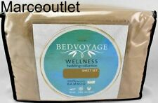 Bedvoyage Wellness Collection Rayon From Bamboo Split King Sheet Set Champagne