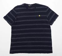 TU Mens Size XL Cotton Striped Blue T-Shirt