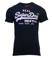 Superdry Mens Vintage Logo Short Sleeve Crew Neck Print T-Shirt Eclipse Navy