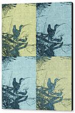 "Cormorant Collage Beach Style, 16""x20"", Canvas Print"