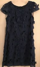 BCBG Max Azria Navy Cocktail Dress With Appliqués Chic Sz 6