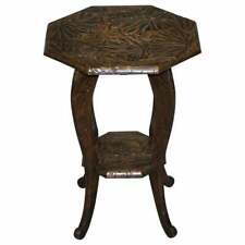 LARGE 1905 LIBERTY'S LONDON JAPANESE CARVED SIDE END LAMP WINE TABLE JARDINIERE