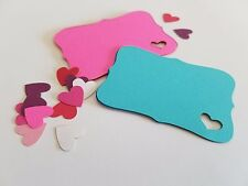 Bracket Edge Cards with Small Heart Cut Out ( Invitations, Valentines Day Cards)