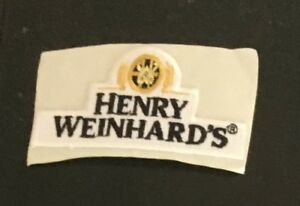 Henry Weinhard;s beer advertising patch 1-5/8 X 3 #3544