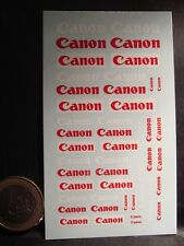DECALS 1/43 - LOGOS CANON  - T277
