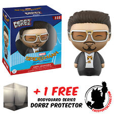 FUNKO DORBZ SPIDERMAN HOMECOMING TONY STARK EXCLUSIVE + FREE DORBZ PROTECTOR