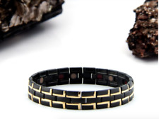 MEN'S Authentic Pur life Negative Ion Bracelet  TITANIUM BLACK GOLD PURELIFE