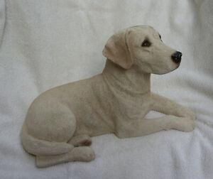 "Super Sandicast Yellow Labrador Sculpture 11"" 1991 Signed"