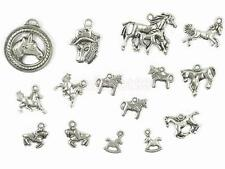 15 Antique Tibetan Silver Assorted Horse Charm Pendant DIY Jewelry Findings