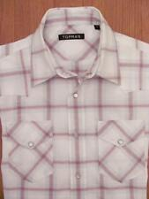 Topman Check Fitted Long Sleeve Casual Shirts & Tops for Men