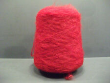 Mohair Wool 500gm Cone of Double Knitting (2'sNM) Cherry Red Brushed Mohair