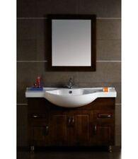 Mobili e pensili in legno massello di bagno con specchio per la casa